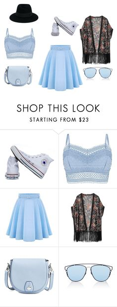 """""""Blue Sky"""" by abydallas on Polyvore featuring mode, Converse, Lipsy, WithChic, rag & bone, Christian Dior et Maison Michel"""