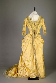 Evening dress, by Charles Frederick Worth, c. 1888, at the Met