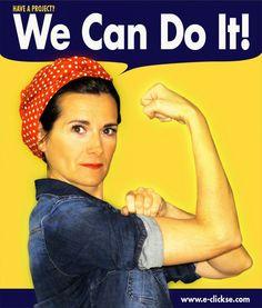 We can do it cartel. Rosie the riveter. Rosie la remachadora. 8 de marzo Dia de la Mujer   Blog www.micasaencualquierparte.com