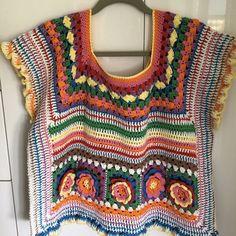 Kahlo Crop Top in Paintbox Yarns Cotton DK - Downloadable PDF Crochet Stitches, Crochet Patterns, Free Crochet, Knit Crochet, Hippie Crochet, Crochet Summer Tops, Paintbox Yarn, Yarn Brands, Crochet Clothes