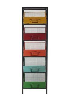 HauteLook   Rustic Storage Solutions: Metal Rack with Bins