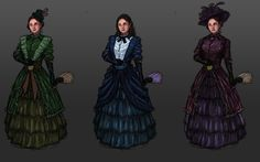 Victorian  noble lady concepts, Rob Smyth on ArtStation at https://www.artstation.com/artwork/E19K4