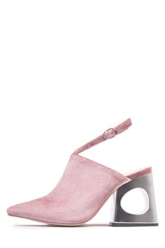 622689b75d0 Jeffrey Campbell Shoes PRIYANKA New Arrivals in Rose Velvet Silver Unique  Shoes