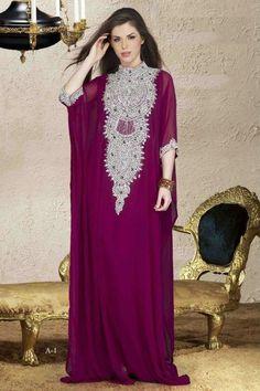 Very Fancy Dubai Kaftan/Abaya/Jalabiya Ladies Maxi Dress (real crystals) Arab Fashion, Islamic Fashion, Muslim Fashion, Modest Fashion, African Fashion, Indian Fashion, Nail Fashion, Ethnic Fashion, Kaftan Abaya