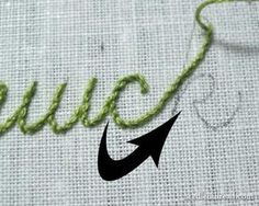 Stem stitch is a beautiful rope-like hand embroidery stitch that works great for writing with a needle and thread.