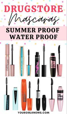 Best Drugstore Waterproof Mascara, Best Waterproof Makeup, Best Mascara, Best Drugstore Concealer, Skin Makeup, Drugstore Foundation, Drugstore Beauty, Best Makeup Products, Make Up
