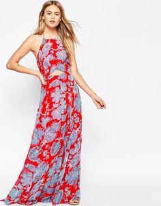 ASOS Paisley Cut Out Maxi Dress