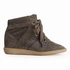 Bobby Suede Wedge Sneakers; Isabel Marant