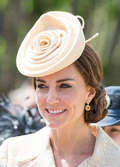 The hat that Kate Middleton wore to a wedding.