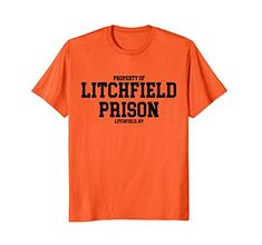 Litchfield Prison (New York) T-shirt Litchfield Prison, Cheap Easy Halloween Costumes, Duo Costumes, New York T Shirt, Costume Shirts, Proud Dad, Orange Is The New Black, My T Shirt, Branded T Shirts