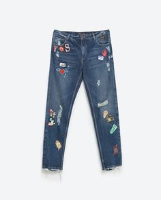 Image 8 of PATCH JEANS from Zara