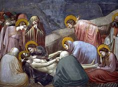 Giotto di Bondone - Lamentation over the Dead Christ, c.1305  (detail of 56296)