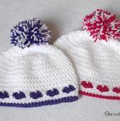 Heart Hat - Newborn to Adult - via @Craftsy