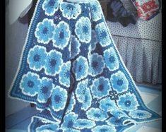 Crochet Afghan Pattern - Instant Download PDF Pattern No. 01230215 - Afghan Pattern :  Crochet Afghan Pattern Instant Download PDF Pattern by MsBobbies  #Afghan #Crochet #Download #Instant #Pattern #PDF Coat Patterns, Afghan Crochet Patterns, Crochet Afghans, Crochet Blankets, Crochet Stars, Crochet Blocks, Granny Square Slippers, Popular Crochet, Aran Weight Yarn