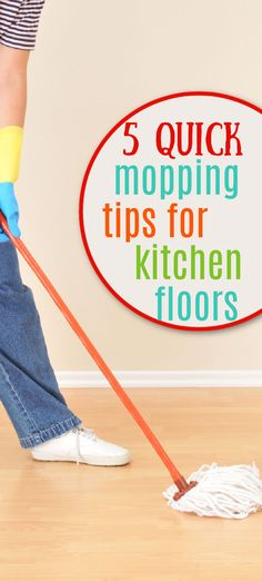 Quick mopping tips for cleaning kitchen and bathroom floors. Cleaning Wood, Cleaning Hacks, Bathroom Flooring, Kitchen Flooring, Mopping Floors, Laundry Detergent, Household Tips, Clean House, Pug
