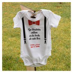 """Body modelo """"Dandy"""" de algodón. Diseño exclusivo de 2brain.es. Personalizable, podemos escribir la frase que quieras."""