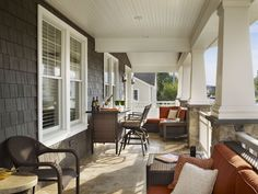 Bar height sets are great additions to wrap around porches!