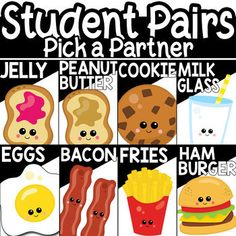 This item provides teachers with an easy way of pairing students. This is a set of 32 cards and circle card chips. This comes in four different styles. Three styles can be printed and placed in ID Holders Lanyards for easy use and storage. A poster