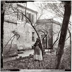 Exterior view of Price, Birch & Co. slave pen at Alexandria, Virginia, circa 1865
