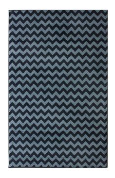 Want this for my living room. Rugs USA Home Value Chevron Blue Rug