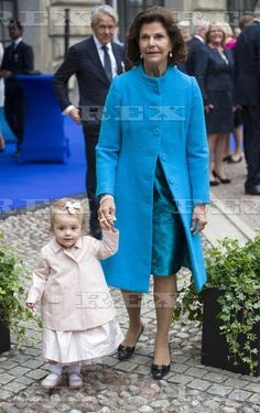 King Carl Gustaf 40th Jubilee, Stockholm, Sweden - 15 Sep 2013 Queen Silvia of Sweden with Princess Estelle 15 Sep 2013