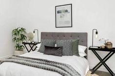Designs To Inspire - Home Staging & Interior Design Feminine Bedroom, Inspired Homes, Home Staging, Comforters, Blanket, Interior, Modern, Bedrooms, Fashion Design