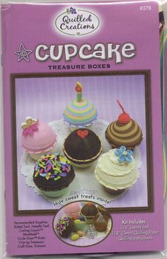 Quilled Creations CUPCAKE TREASURE BOXES KIT $14.85  #Quilling