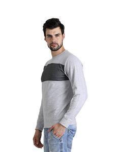 Dark Grey Strip Sweat Shirt – Atheno India