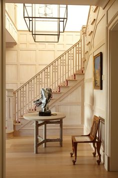 I truly love panelling designs on stair case walls.  So many patterns, colors, stains....Portfolio - Dering Hall