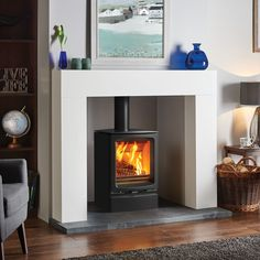 modern fire surrounds for wood burners - Google Search