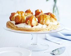 James Martin's recipe for this classic French gâteau is made with a choux base covered with crème patissière and decorated with caramel covered choux buns