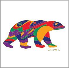 Dawn Oman Alpha Bear Ceramic Tile/Trivet