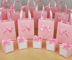 Personalized Baptism Or Birthday Gift Bags For Party Favors Guests Elegant Welcome Bag With Satin Ribbon Handles Bow And Your Baby Name