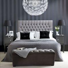 """""""Cinquanta Sfumature di Grigio - decor della camera letto ispirata al film - grigio2"""""""