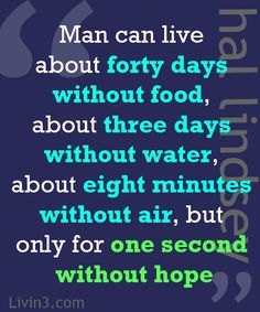 Positive Quote to live by. Don't lose hope