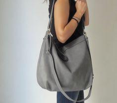 Leder Hobo Tasche weiches Leder Laptop-Tasche große
