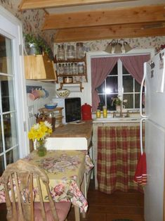 This is a 192 sq. barn shed that was converted into a beautiful 192 sq. tiny home that is being shared by one of our wonderful readers named Stacy Thompson. Included below is an interview w… Converted Barn, Home, Small Sheds, Barns Sheds, Interior Floor Plan, House Interior, Shed To Tiny House, Small House, Converted Shed