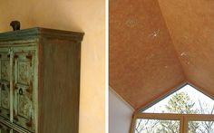 Dekorationstechniken vom Malerfachbetrieb Griek in Aldenhoven (52457) bringen die Decke zum Funkeln und geben der Wand Struktur in der gewünschten Farbe. | Maler.org