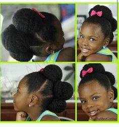 Kids hairstyle. Natural hair