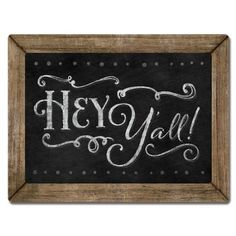 New 3d Wood Chalkboard Sign Hey Yall Plaque Country Wall Art Rustic Cowboy Decor