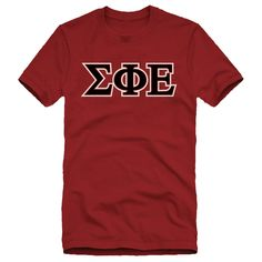 SigEp Deep Red Essential Letter Tee