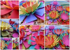 colourful card flowers