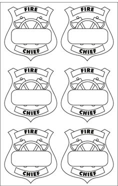 printable fire chief badges