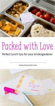Perfect lunch packing tips for your kindergardener. Send them off to school with little bits of love in their lunchbox. Tips for packing real food quickly and great sources for free printable love notes! #goldfishsmiles