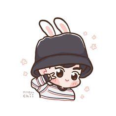Suho <credits to owner> Kawaii Drawings, Cute Drawings, Suho Exo, Kaisoo, Chanbaek, Exo Cartoon, Exo Anime, Exo Fan Art, Bts Chibi
