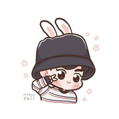 Suho <credits to owner> Kawaii Drawings, Cute Drawings, Suho Exo, Kaisoo, Chanbaek, Exo Cartoon, Exo Anime, Exo Fan Art, Bts And Exo