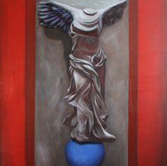 Rivincita Olio su tela 100x100 2013 Statue, Painting, Art, Art Background, Painting Art, Kunst, Paintings, Performing Arts, Painted Canvas