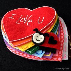 Lovebug valentine felt flannel story game and bonus poem