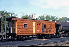 RailPictures.Net Photo: Chicago, Milwaukee, St. Paul & Pacific Caboose 991860 at Portage, Wisconsin by Tom Farence