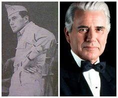 John Forsythe-Army Air Forces-WW2-he appeared in plays and movies, then worked with injured soldiers who had developed speech problems. (Actor)